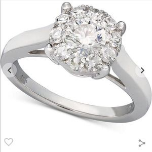 Diamond Engagement Ring 14k Wht Gold 1-1/2 ct. t.w